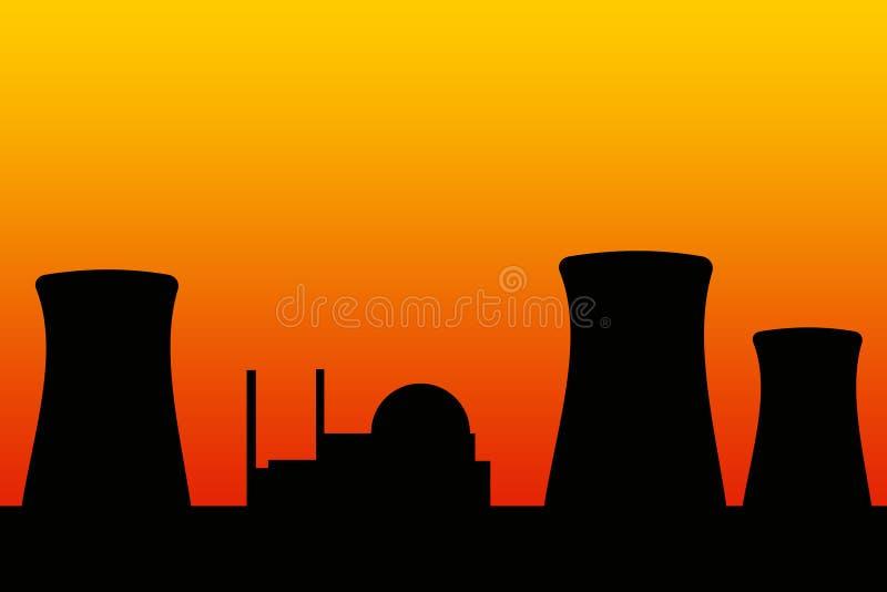 Central nuclear ilustração do vetor