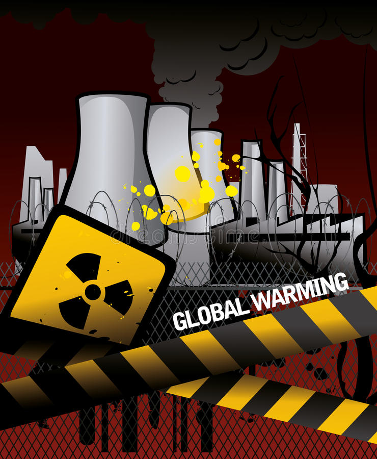 Central nuclear   libre illustration