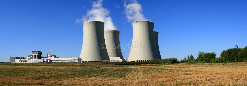 Central nuclear 3 fotografia de stock