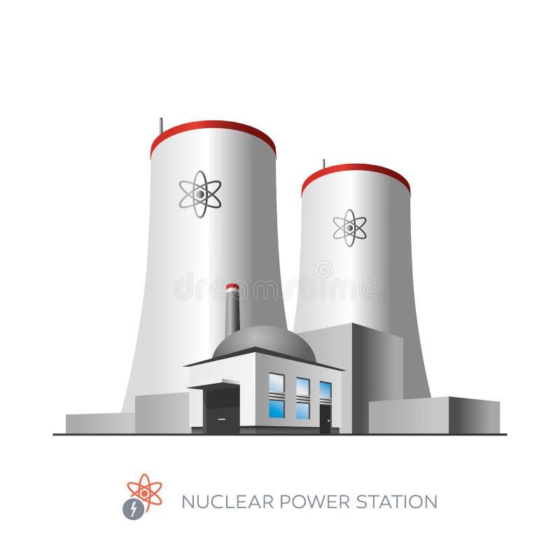 Central nuclear ilustração royalty free