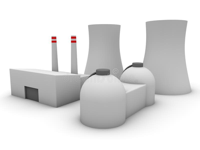 central nuclear 3d ilustración del vector