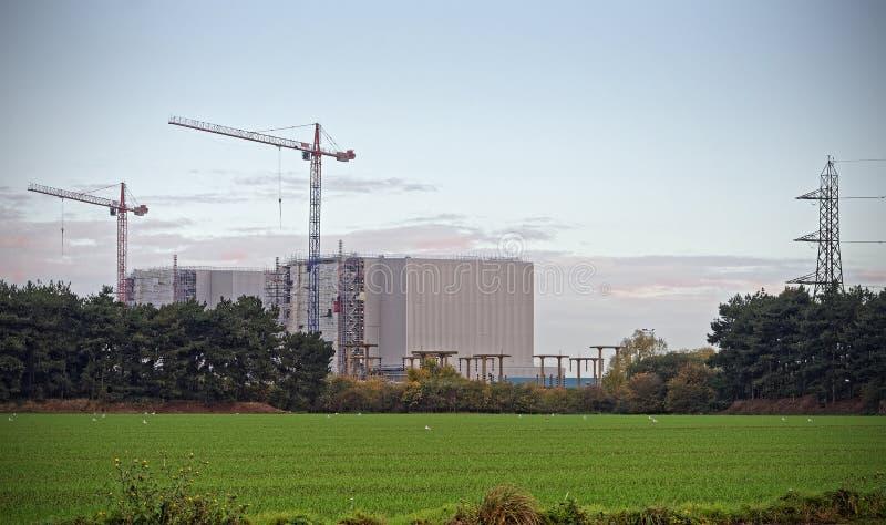 Central nuclear de Bradwell, Essex, Reino Unido fotografía de archivo libre de regalías