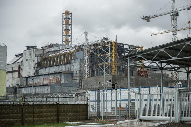 Central nuclear de Chernóbil, 4to bloque foto de archivo