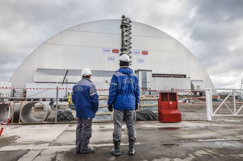 Central nuclear de Chernobyl foto de archivo