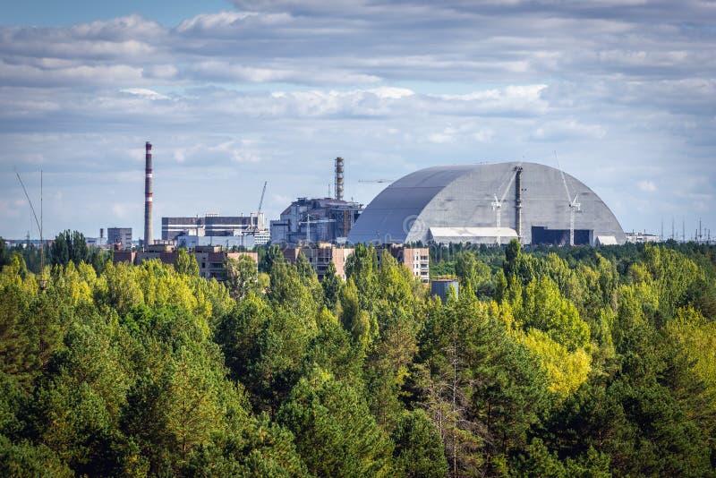 Central nuclear de Chernobyl fotos de archivo