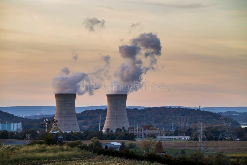Central nuclear de três Mile Island foto de stock