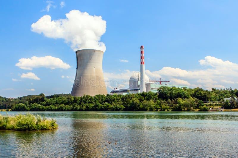 Central nuclear en Leibstadt, Suiza foto de archivo libre de regalías