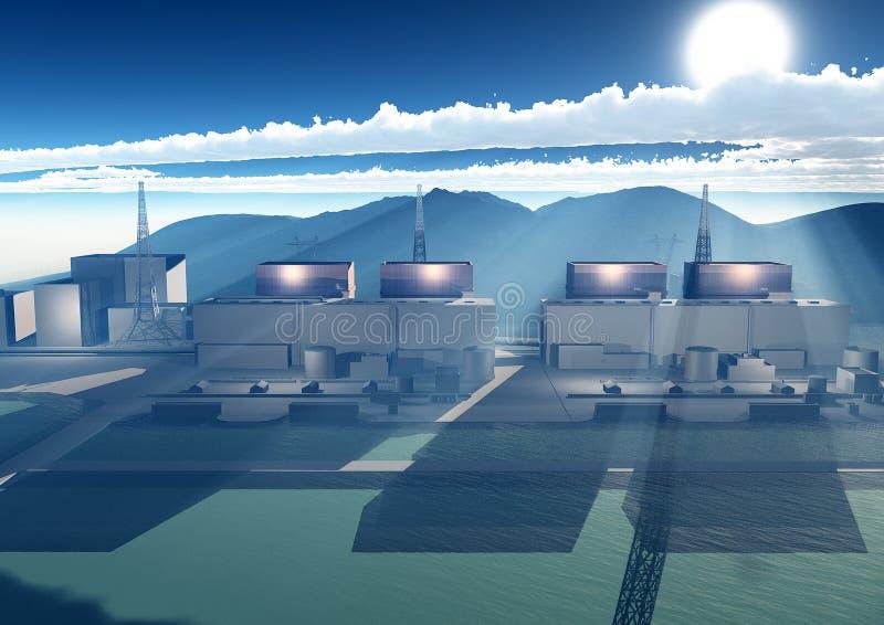 Central nuclear Fukushima, Japão fotografia de stock