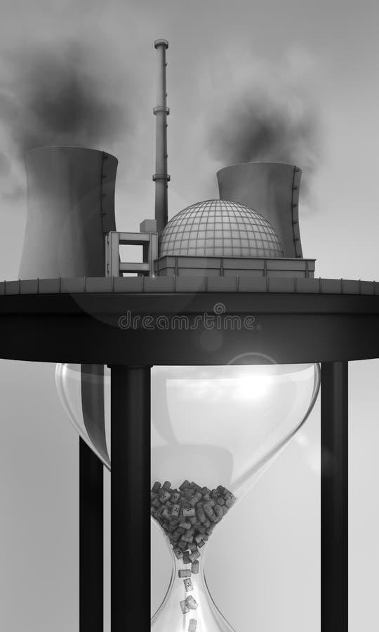 Central nuclear no hourglass enorme ilustração stock