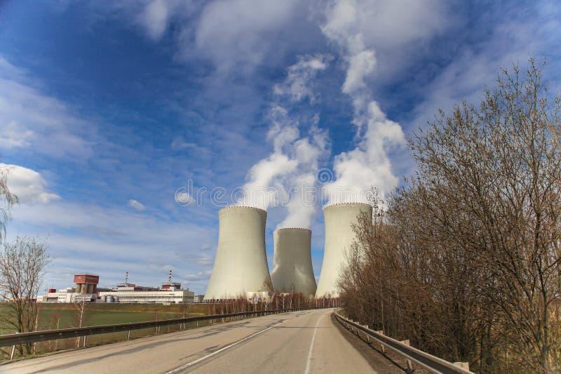 Central nuclear Temelin na República Checa Europa fotografia de stock royalty free