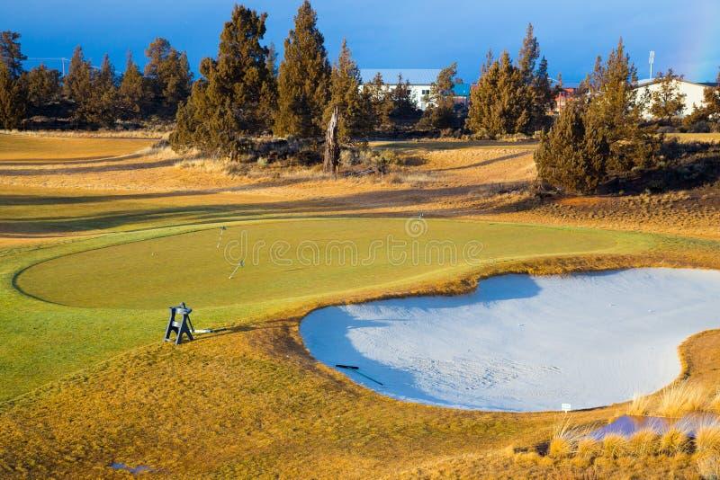 Central Oregon golfbana arkivfoto