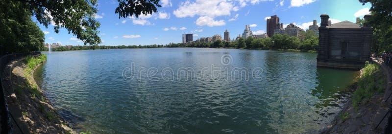 Central Park湖 免版税图库摄影