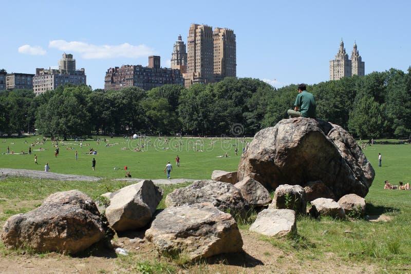 Central Park à New York images libres de droits