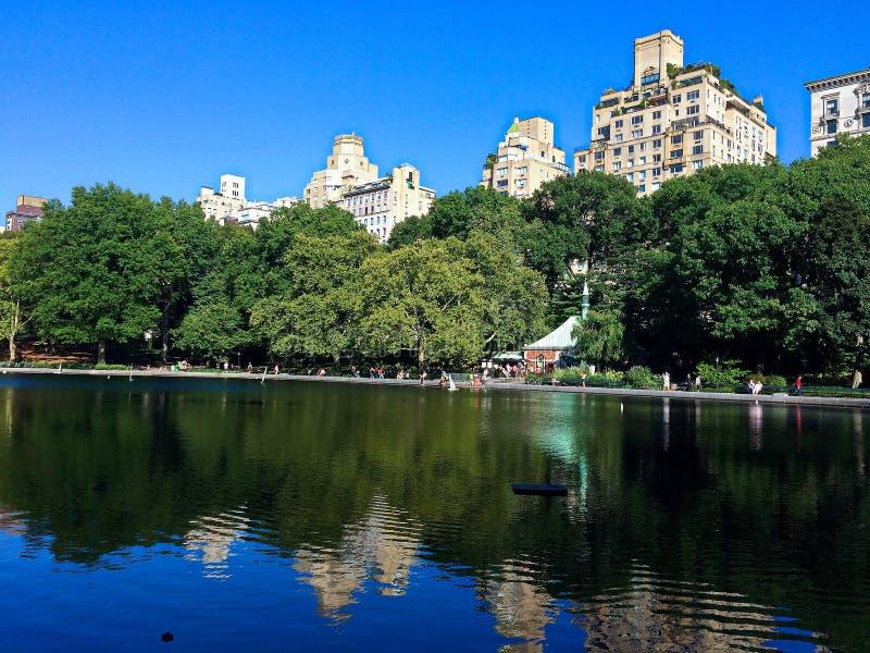 Central Park łódkowaty staw w NYC fotografia royalty free