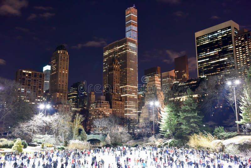 Central Park Łyżwiarski lodowisko, Nowy Jork zdjęcie stock