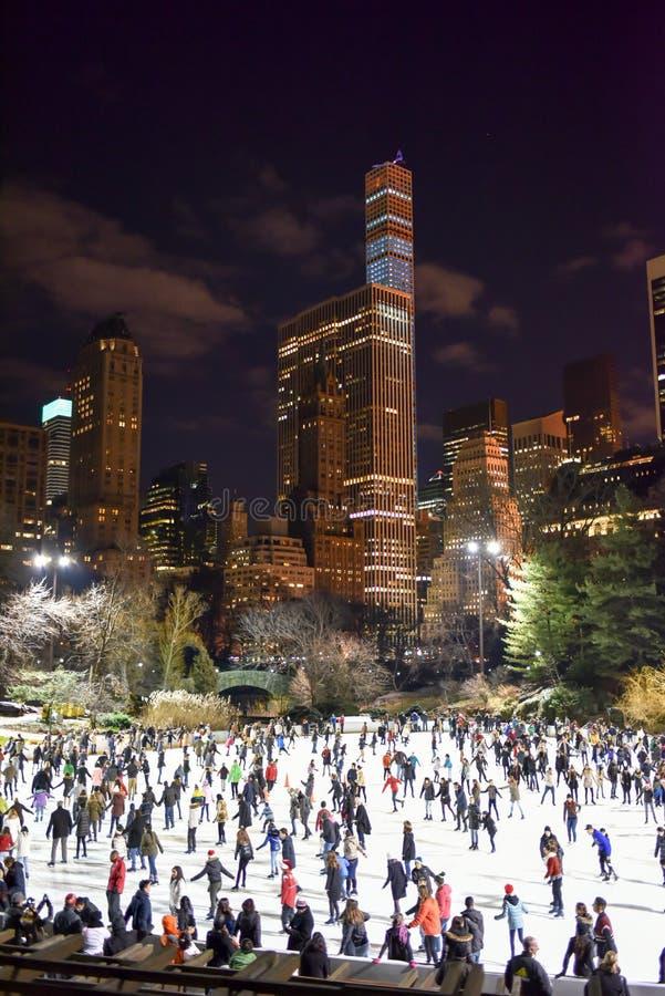 Central Park Łyżwiarski lodowisko, Nowy Jork obrazy stock