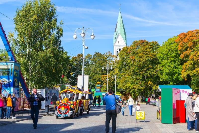 Central Park του πολιτισμού σε Kaliningrad στοκ φωτογραφία με δικαίωμα ελεύθερης χρήσης