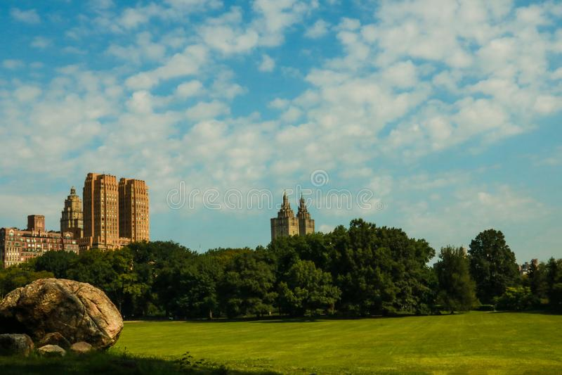 Central Park на солнечном дне, Нью-Йорк стоковые изображения