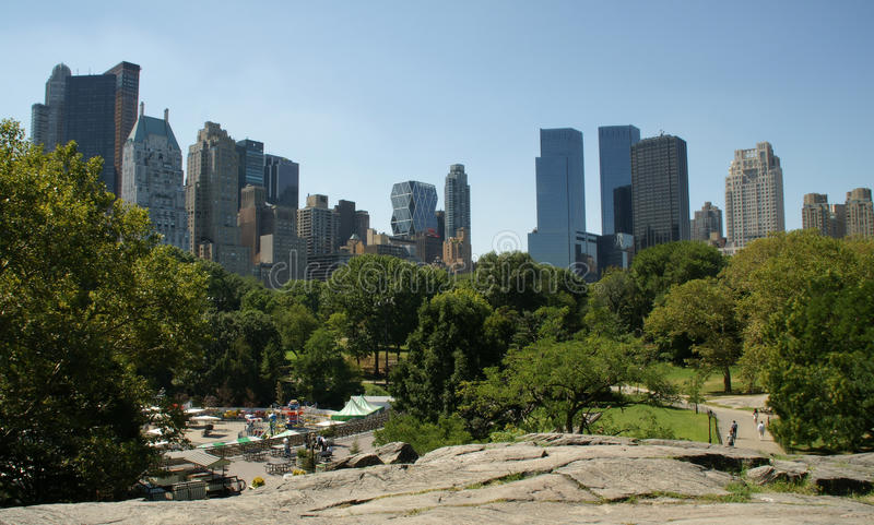 Central Park. In Manhatan in New York stock images