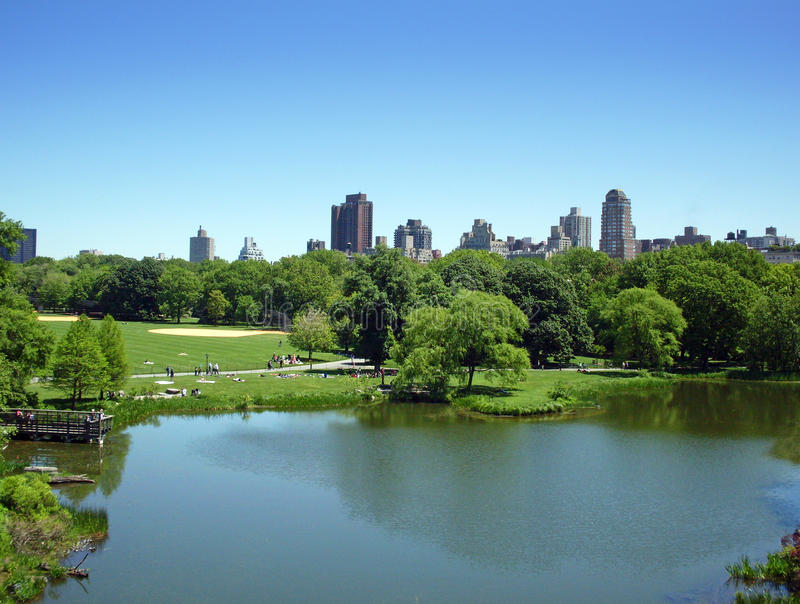 Central Park. In spring time - Manhattan, New York stock photo