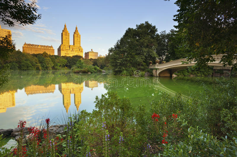 Central Park. Image of The Lake in Central Park, New York City, USA stock image