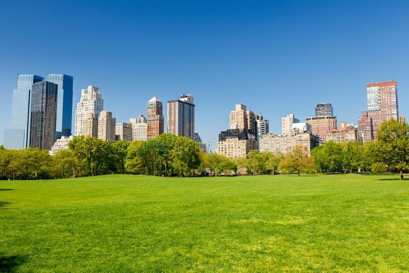 Central Park al giorno pieno di sole fotografia stock