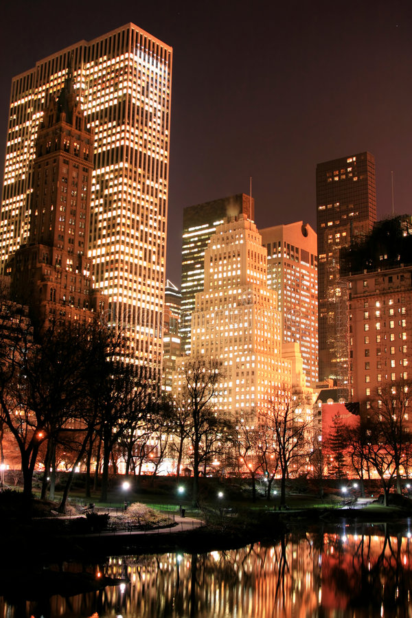 Free Central Park And Manhattan Skyline, New York City Stock Images - 1742394