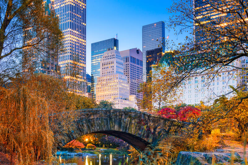 Central Park Autumn. Central Park during autumn in New york City stock photography