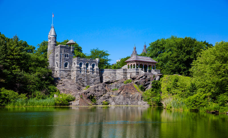 Central Park Belvedere Castle. Belvedere Castle in Central Park - New York City, USA royalty free stock image