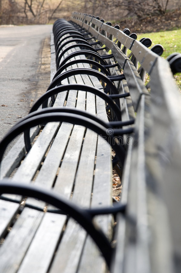 Central Park Bench stock photography