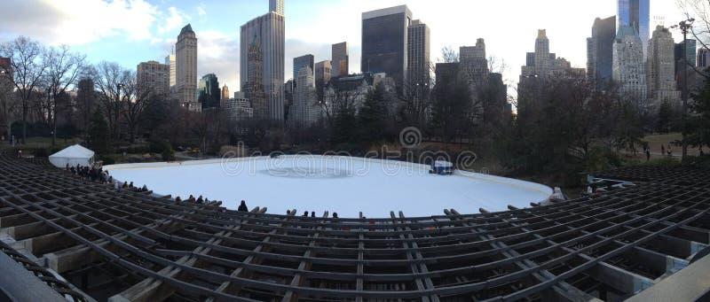 Central Park da pista de Wollman da patinagem no gelo fotos de stock