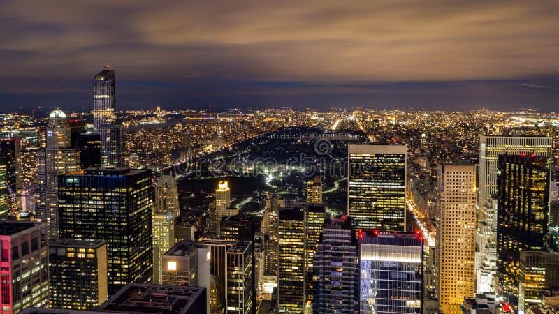 Central Park dal centro di Rockefeller fotografia stock libera da diritti