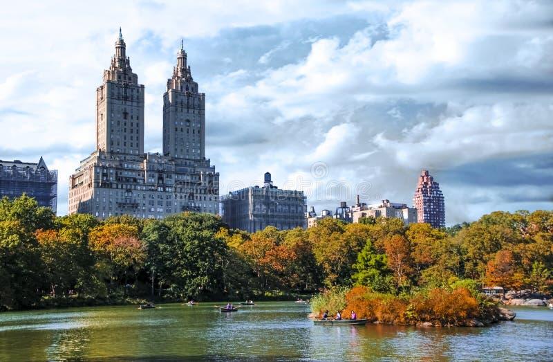 Central Park de New York City com natureza bonita imagens de stock royalty free