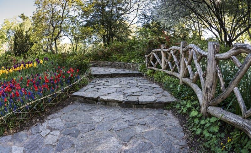 Central Park, de Tuin van de Stadsshakespeare van New York stock foto