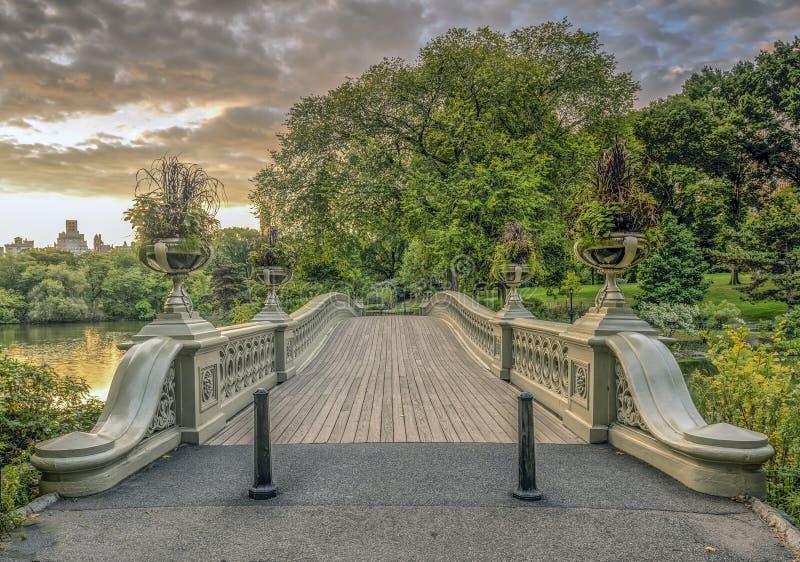 Central Park del ponte dell'arco fotografia stock libera da diritti