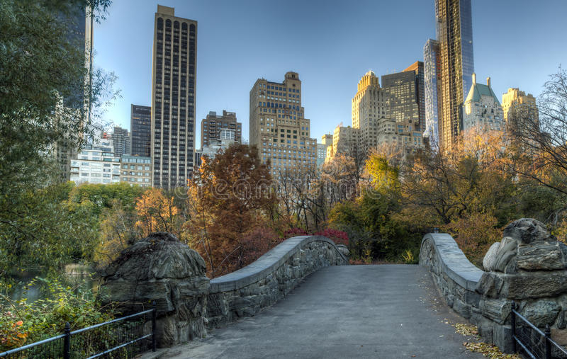 Central Park del ponte di Gapstow, New York fotografia stock