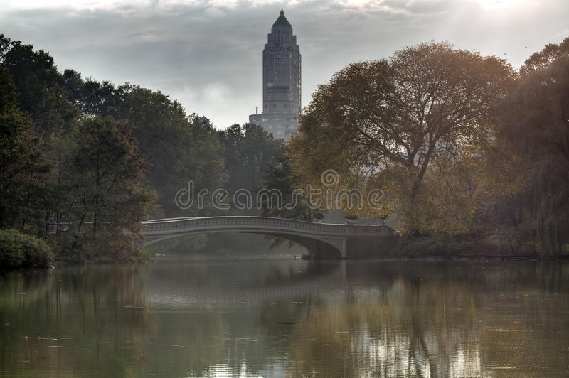 Central Park in early autumn stock images