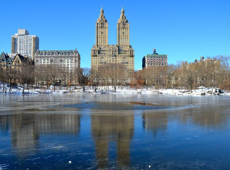 Central Park en el invierno, NYC fotos de archivo libres de regalías