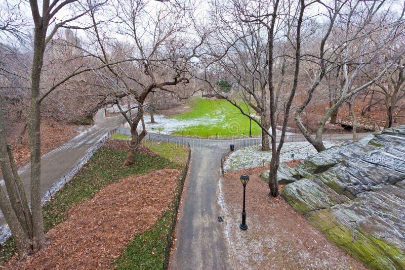 Central Park en hiver photographie stock