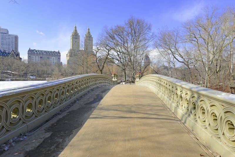 Central Park en la nieve, Nueva York imagenes de archivo