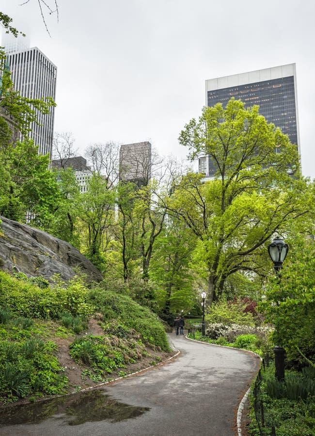 Central Park et horizon de Manhattan dans NYC photo libre de droits