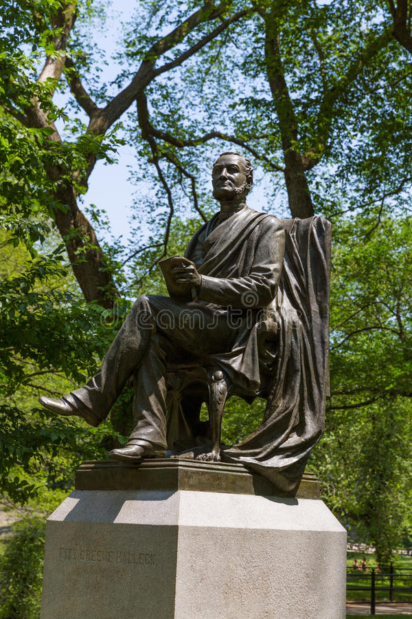 Free Central Park Fitz Greene Halley Statue New York Stock Photo - 49001260