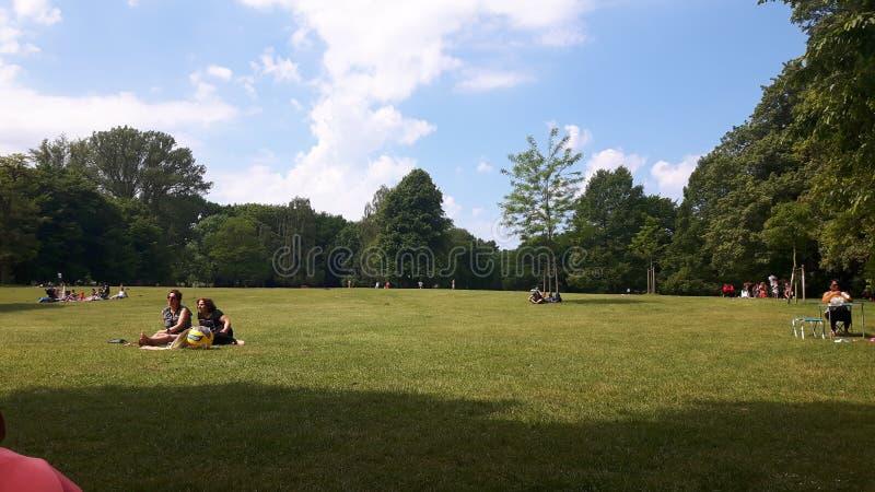 Central Park Hamburg arkivbild