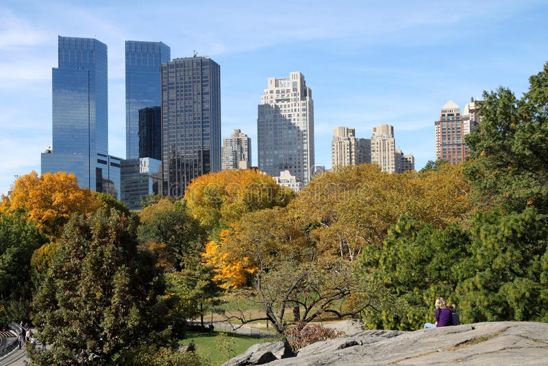 Central Park horisont royaltyfri foto