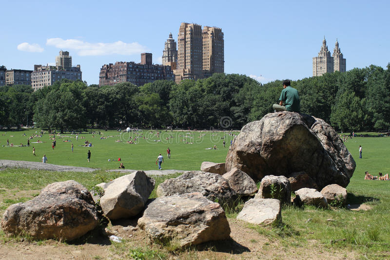 Central Park i New York royaltyfria bilder