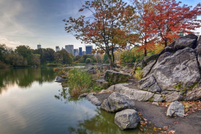 Central Park il lago fotografie stock libere da diritti