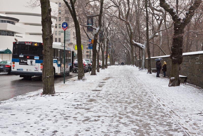 Central Park im Winter lizenzfreie stockbilder