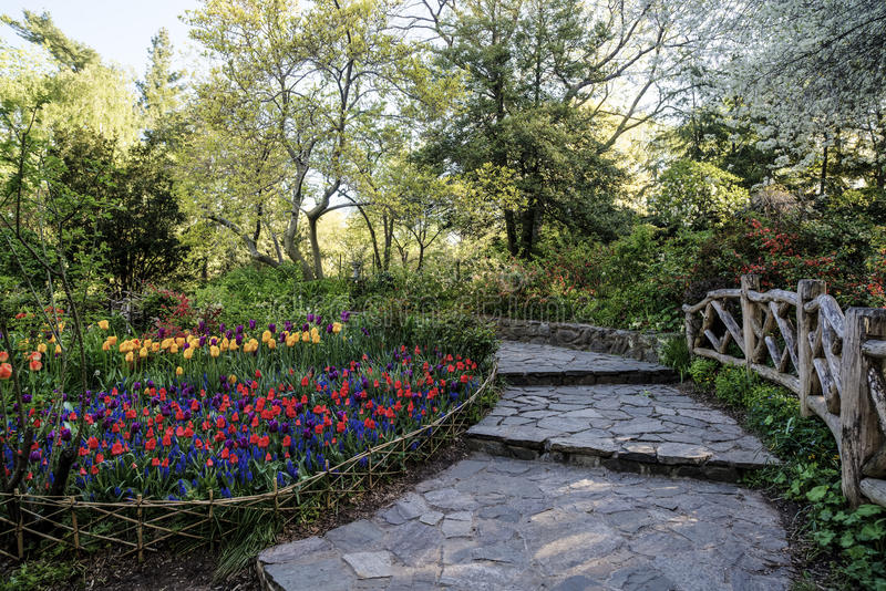 Central Park, jardin de New York City Shakespeare image stock