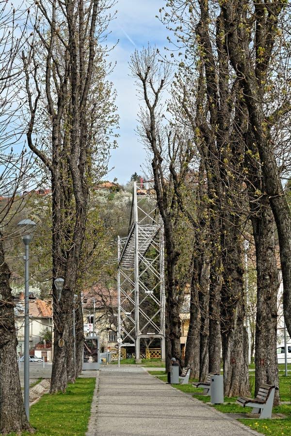 Central Park, Klausenburg-Napoca stockfotografie