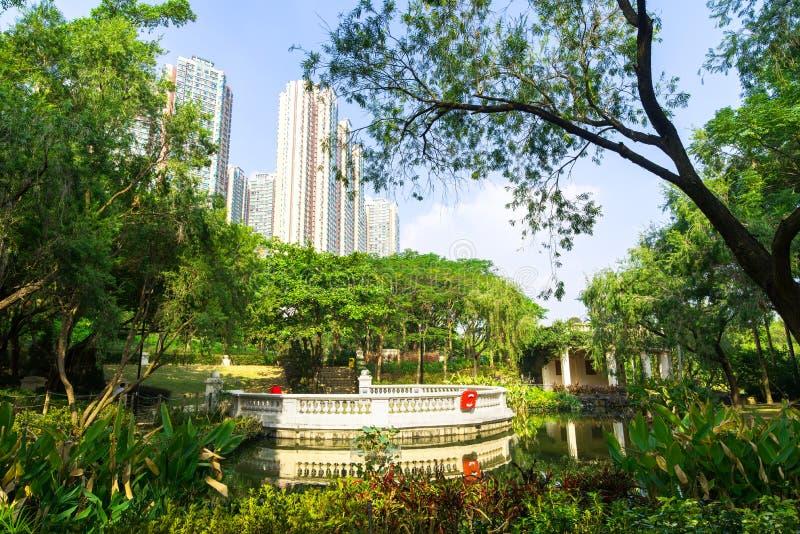 Central Park Kowloon Hon Kong La Chine photos libres de droits